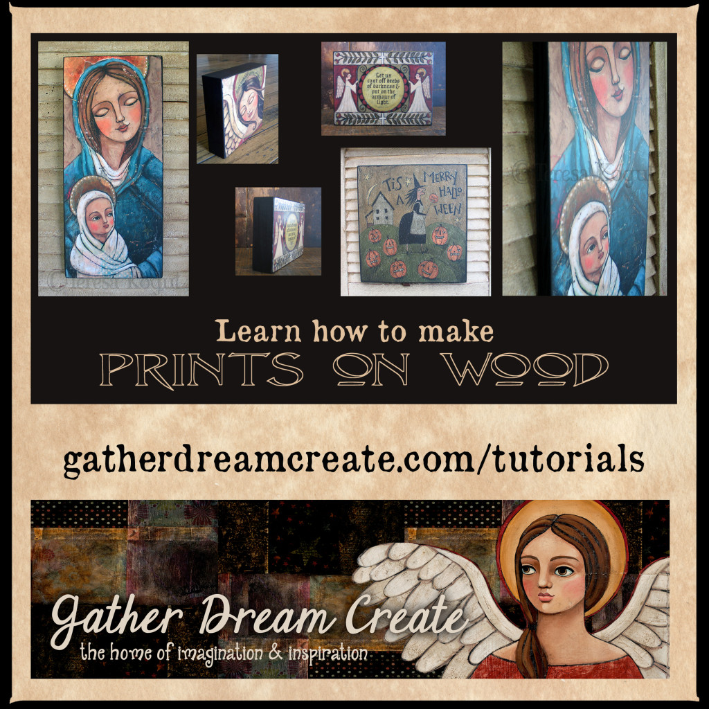 Prints on wood tutorial banner