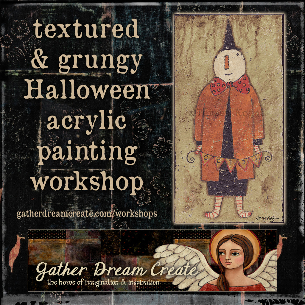 textured prim grungy halloween workshop banner