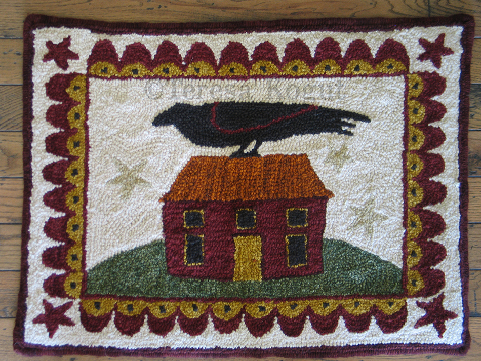 Crow House punch rug©